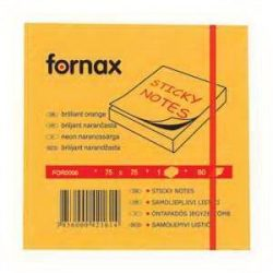 Post it Fornax 75x75mm 80lap neon narancs