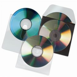 CD tartó zseb 127x127mm, kiszedő réssel 10db/cs