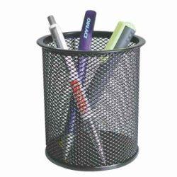 Mesh fémhálós tolltartó fekete*
