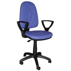 """Irodai szék, LX karfás, kék kárpittal, """"Megane"""""""