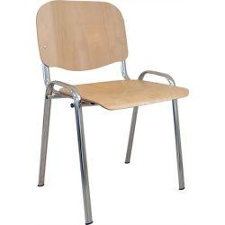 """Tárgyalószék, fa ülőlappal, krómozott lábbal, """"1120 LC"""""""