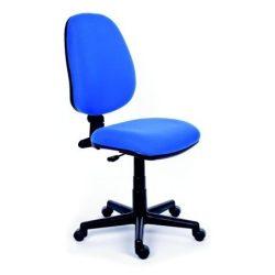 """Irodai szék, kék szövetborítás, fekete lábkereszt, MaYAH """"Happy"""""""