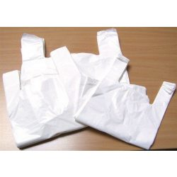 Ingvállas tasak, fehér, 32x8x50 cm