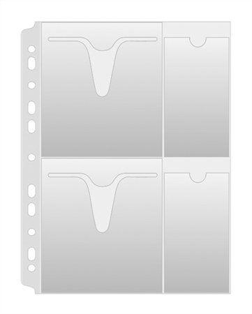 CD/DVD genotherm, lefűzhető, A4, 160 mikron, víztiszta, DONAU