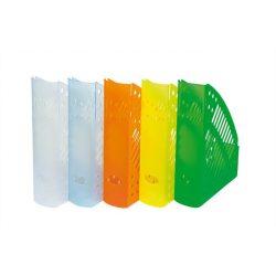Iratpapucs, műanyag, 70 mm, DONAU, áttetsző fehér