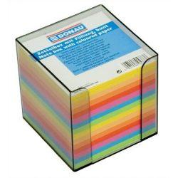 Kockatömb, 89x89x85 mm, adagolóval, DONAU, színes