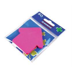 Öntapadó jegyzettömb, nyíl alakú, 50 lap, DONAU, rózsaszín