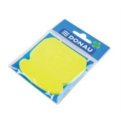 Öntapadó jegyzettömb, telefon alakú, 50 lap, DONAU, sárga