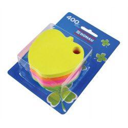 Öntapadó jegyzettömb, alma alakú, 5x80 lap, DONAU, vegyes szín