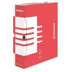 Archiváló doboz, A4, 100 mm, karton, DONAU, piros