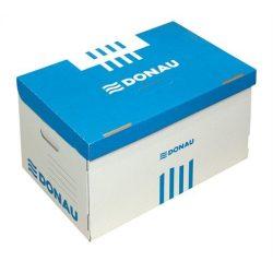 Archiváló konténer, 522x351x305 mm, karton, DONAU, kék-fehér