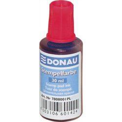 Bélyegzőfesték, 30 ml, DONAU, piros