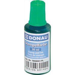 Bélyegzőfesték, 30 ml, DONAU, zöld