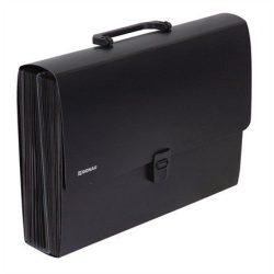 Harmonika táska, PP, 26 zsebes, DONAU, fekete