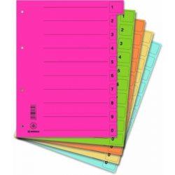 Elválasztó lap, karton, A4, mikroperforált, DONAU, piros