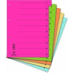 Elválasztó lap, karton, A4, mikroperforált, DONAU, citromsárga