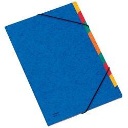 Gumis mappa, karton, A4, regiszteres, 9 részes, DONAU, kék