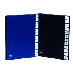 Előrendező, A4, A-Z, karton, DONAU, fekete