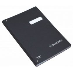 Aláírókönyv, A4, 19 részes, karton, DONAU, fekete