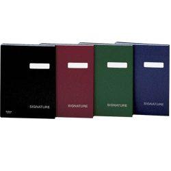 Aláírókönyv, A4, 19 részes, karton, DONAU, vörös
