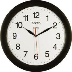 Falióra, 28 cm,  SECCO, fekete keretes