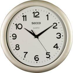 """Falióra, 30 cm,  SECCO """"Sweep Second"""",ezüst színű keret"""