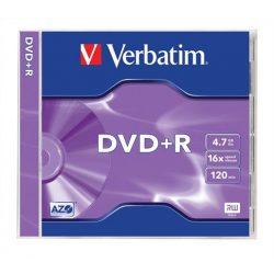 DVD+R lemez, AZO, 4,7GB, 16x, normál tok, VERBATIM