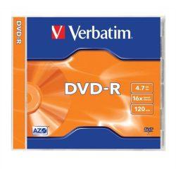 DVD-R lemez, AZO, 4,7GB, 16x, normál tok, VERBATIM
