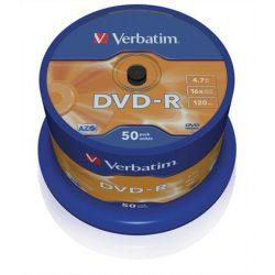 DVD-R lemez, AZO, 4,7GB, 16x, hengeren, VERBATIM