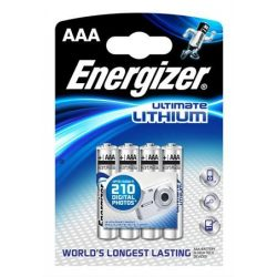 "Elem, AAA mikro, 4 db, Lítium, ENERGIZER ""Ultimate Lithium"""