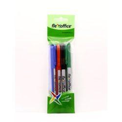 """Tűfilc készlet, 0,3 mm, FLEXOFFICE """"FL01"""", 4 különböző szín"""