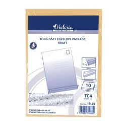 Redős-talpas tasak, TC4, szilikonos, 40 mm talp, VICTORIA, barna kraft 10 db/csomag
