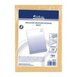 Redős-talpas tasak, TB/4, szilikonos, 40 mm talp, VICTORIA, barna kraft 10 db/csomag