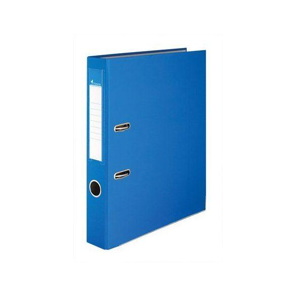 Iratrendező, 50 mm, A4, PP/karton, élvédő sínnel, VICTORIA, kék