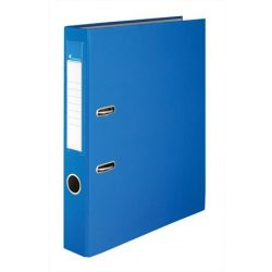 Iratrendező, 50 mm, A4, PP/karton, VICTORIA, kék