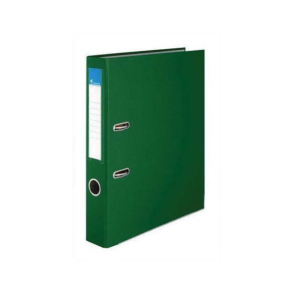 Iratrendező, 50 mm, A4, PP/karton, élvédő sínnel, VICTORIA, zöld