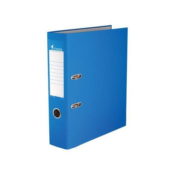 Iratrendező, 75 mm, A4, PP/karton, VICTORIA, kék