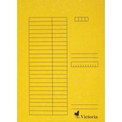 Gyorsfűző, karton, A4, VICTORIA, sárga 5 db/csom