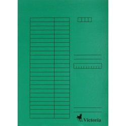 Gyorsfűző, karton, A4, VICTORIA, zöld 5 db/csom