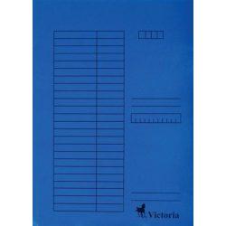Gyorsfűző, karton, A4, VICTORIA, kék 5 db/csom