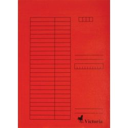 Gyorsfűző, karton, A4, VICTORIA, piros 5 db/csom