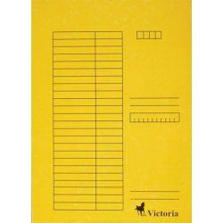 Pólyás dosszié, karton, A4, VICTORIA, sárga 5 db/csom