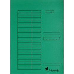 Pólyás dosszié, karton, A4, VICTORIA, zöld 5 db/csom
