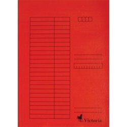 Pólyás dosszié, karton, A4, VICTORIA, piros 5 db/csom