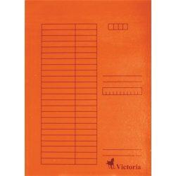 Pólyás dosszié, karton, A4, VICTORIA, narancs 5 db/csom