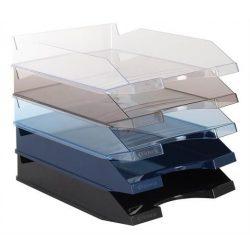 Irattálca, műanyag, VICTORIA, áttetsző kék