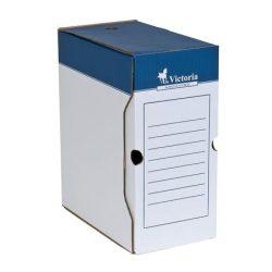 Archiváló doboz, A4, 150 mm, karton, VICTORIA, kék-fehér