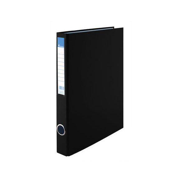 Gyűrűs dosszié, 2 gyűrű, 35 mm, A4, PP/karton, VICTORIA, fekete