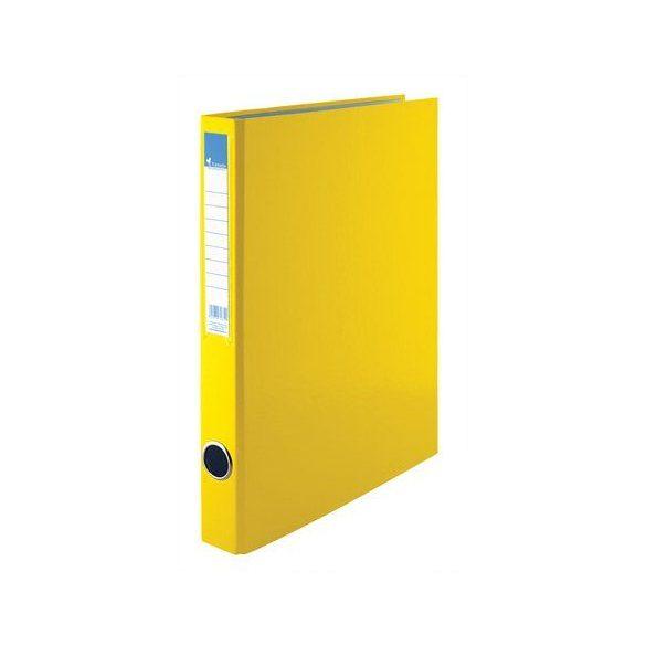 Gyűrűs dosszié, 4 gyűrű, 35 mm, A4, PP/karton, VICTORIA, sárga