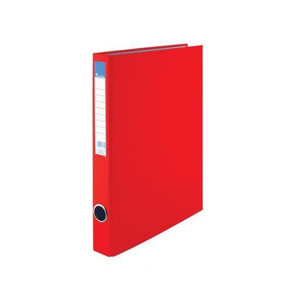 Gyűrűs dosszié, 4 gyűrű, 35 mm, A4, PP/karton, VICTORIA, piros